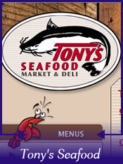 Tonys seafood market and deli rachael edwards for Tonys fish market